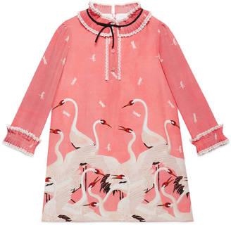 Children's herons print silk dress $995 thestylecure.com