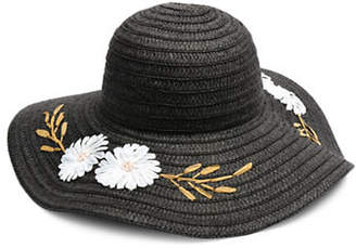 Collection 18 Floral Embroidered Floppy Hat