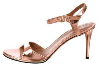Givenchy Metallic Patent Leather Sandals
