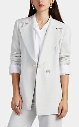 Nomia Women's Split Oversized Double-Breasted Blazer - Natural
