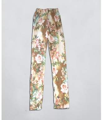 Mi Amore Gigi Tan Floral Leggings