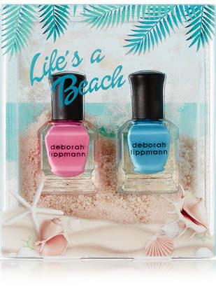 Deborah Lippmann - Life's A Beach Nail Polish Set - Pink $17 thestylecure.com