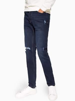 530fdec8 TopmanTopman Dark Wash Stretch Skinny Ripped Jeans