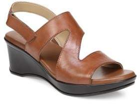 Naturalizer Valerie Leather Wedge Sandals
