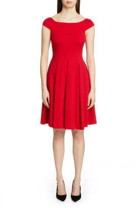 Emporio Armani Off the Shoulder A-Line Dress