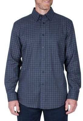 Haggar Big Tall Long Sleeve Check Shirt