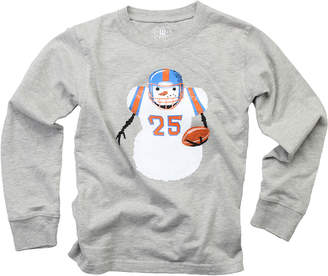 Wes And Willy Snowman Football T-Shirt