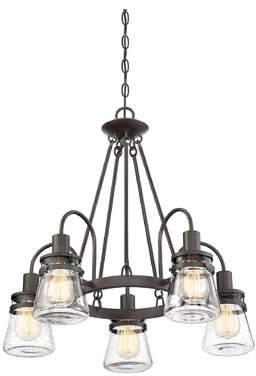 Gracie Oaks Wyble 5-Light LED Chandelier