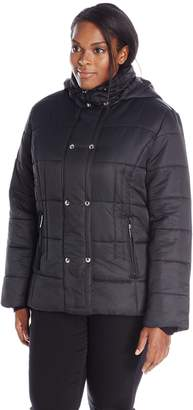 Big Chill Women's Plus-Size Short Puffer Jacket