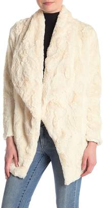 BB Dakota Haddie Faux Fur Draped Jacket