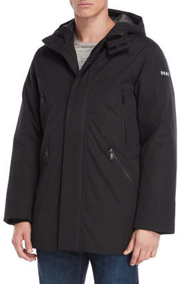 DKNY Hooded Logo Ski Jacket