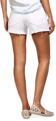 DL1961 Premium Denim Renee Cutoff Denim Shorts, White