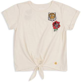 Butter Shoes Girls' Patch Tie-Front Tee