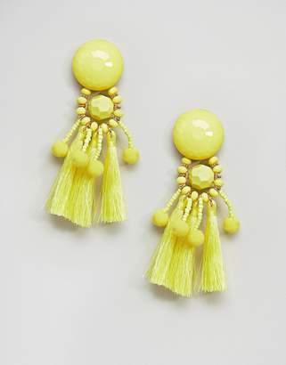 Asos Bead & Pom Tassel Earrings