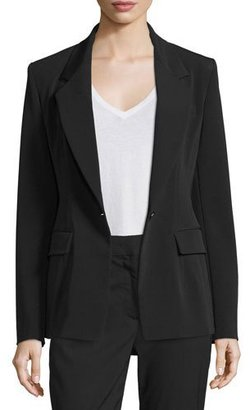 DKNY Crepe Single-Button Blazer, Black $698 thestylecure.com