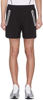 BLACKBARRETT Perforated logo track shorts