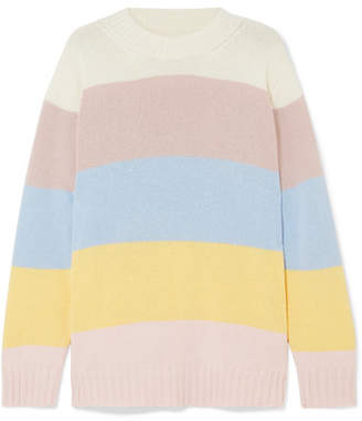 Chinti and Parker Neopolitan Striped Cashmere Sweater - Yellow