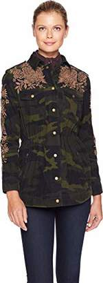 3J Workshop by Johnny Was Women's Drawstring Military Jacket