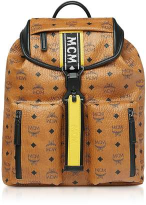 Cognac Visetos Raymonde Two Pocket Small Backpack