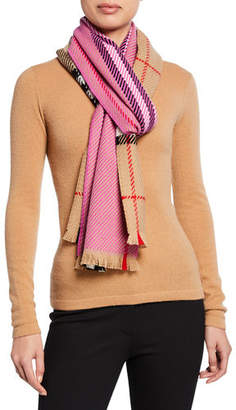 Burberry Colorblocked Giant Check Scarf