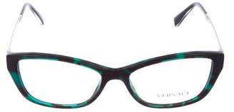 Versace Medusa Tortoiseshell Eyeglasses