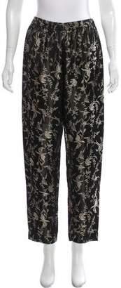 Giada Forte Metallic High-Rise Pants w/ Tags
