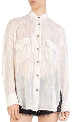 The Kooples Glitter Stripe Shirt