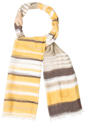 GucciGucci Striped Patterned Scarf