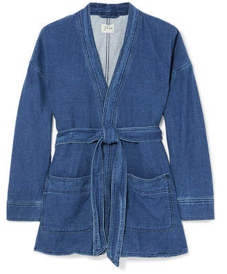J.Crew Denim Wrap Jacket - Navy