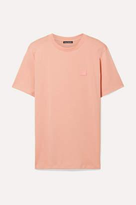 Acne Studios Ellison Appliquéd Cotton-jersey T-shirt - Pastel pink