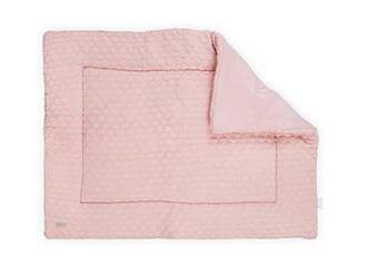 Camilla And Marc Jollein Fancy Knit Playpen Quilt, 80 x 100 cm, Blush Pink