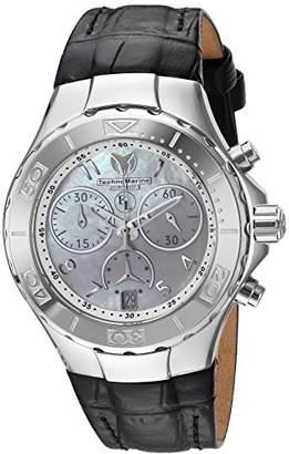 Technomarine Women's 'Eva Longoria' Quartz Stainless Steel and Leather Casual Watch