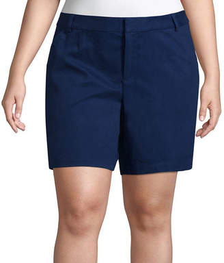 Boutique + + 7 Twill Shorts - Plus