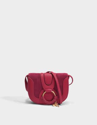 See by Chloe Hana Mini Crossbody Bag in Berry Pink Grained Cow Skin and Skin Cowhide
