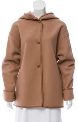 Chloé Hooded Wool Coat