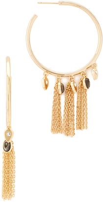 Jules Smith Arya Fringe Hoop Earrings $80 thestylecure.com