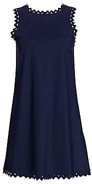 Karla Colletto Swim Women's Zigzag Trimmed Roundneck Dress