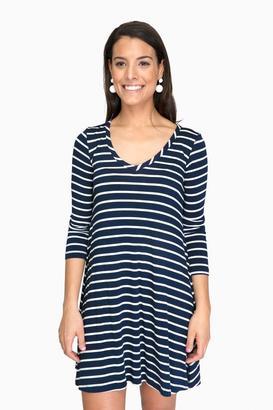 Amour Vert Basque Stripe Gillian Dress $108 thestylecure.com