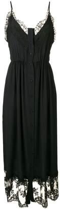 MSGM lace trim maxi dress and shorts set