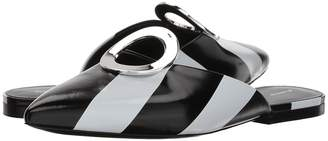 Proenza Schouler Calf Stripes Flat Mule Women's Flat Shoes