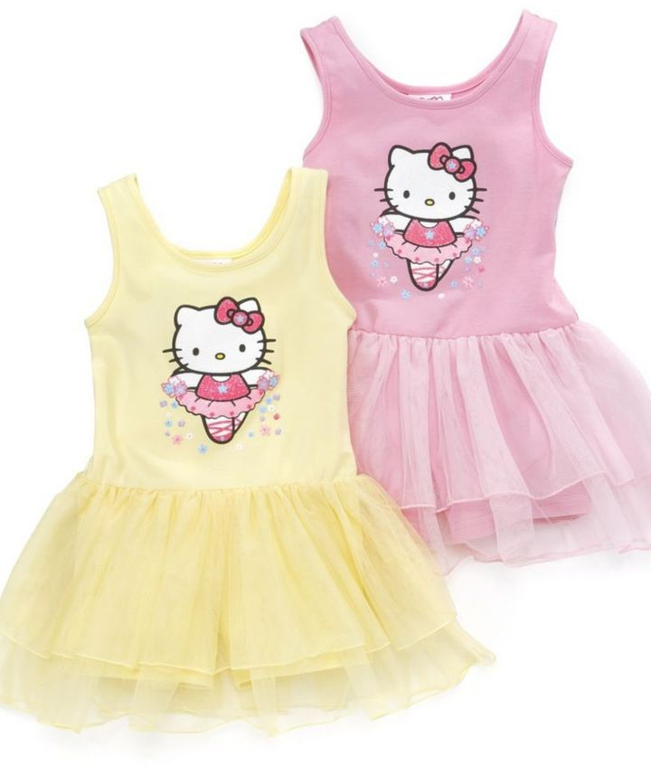 Hello Kitty Little Girl Sugarglittered Tutu Dress