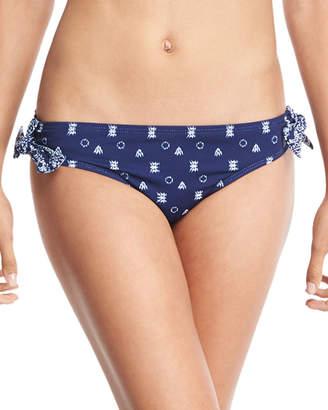 Splendid Border Stripe Tie Retro Swim Bikini Bottom