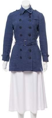 Burberry Linen Trench Coat