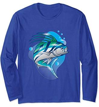 Roosterfish Lucky Fishing T Shirt Long Sleeve