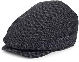 Black Brown 1826 Ivy Wool-Blend Newsboy Cap