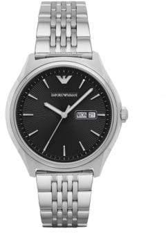 Emporio Armani Analog Dress Zeta Stainless Steel Bracelet Watch