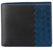 Bottega Veneta Intrecciato & Smooth Leather Bi-Color Wallet $480 thestylecure.com