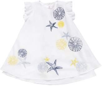 Il Gufo Embroidered Cotton Muslin Dress