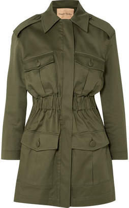 Maggie Marilyn - I'll Fight For You Stretch-cotton Twill Jacket - Army green