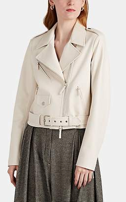 The Row Women's Perlin Leather Moto Jacket - Eggshell